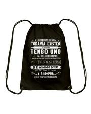 Diciembre tengo existen Drawstring Bag thumbnail