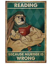 Poster Book dog reading beacause 24x36 Poster front