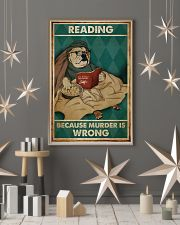 Poster Book dog reading beacause 24x36 Poster lifestyle-holiday-poster-1
