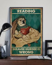Poster Book dog reading beacause 24x36 Poster lifestyle-poster-2