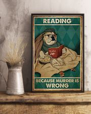 Poster Book dog reading beacause 24x36 Poster lifestyle-poster-3