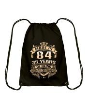 Made in 84-35  years Drawstring Bag thumbnail