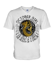October girl the soul V-Neck T-Shirt thumbnail