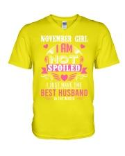 November girl best husband V-Neck T-Shirt thumbnail