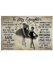 Poster Ballet to my daughter 36x24 Poster front