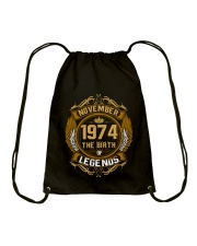 November 1974 The Birth of Legends Drawstring Bag thumbnail