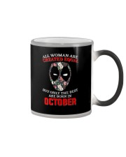 October Created equal Color Changing Mug tile