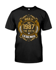May 1987 The Birth of Legends Classic T-Shirt front
