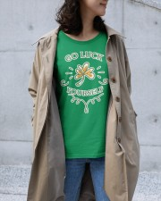 Go luck yourself on Saint Patrick day  Premium Fit Ladies Tee apparel-premium-fit-ladies-tee-lifestyle-front-37
