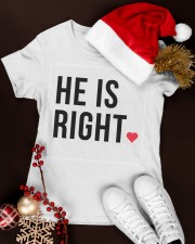 He is right Premium Women Tshirt - Couple Tee Premium Fit Ladies Tee apparel-premium-fit-ladies-tee-lifestyle-16