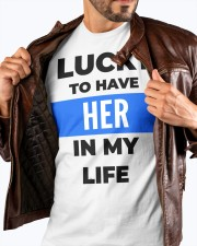 Lucky to have her in my life couple premium Tshirt Premium Fit Mens Tee apparel-premium-fit-men-tee-lifestyle-front-18