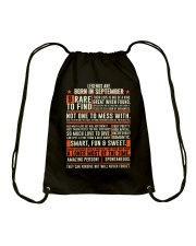 Legends are born in September Drawstring Bag tile