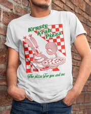 krusty krab pizza the pizza for you and me t-shirt Classic T-Shirt apparel-classic-tshirt-lifestyle-26