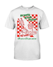 krusty krab pizza the pizza for you and me t-shirt Classic T-Shirt front