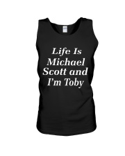 life is michael scott and i'm toby Unisex Tank thumbnail