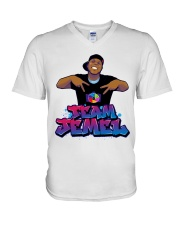 Team Jemel Graffiti  V-Neck T-Shirt thumbnail