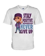 Stay Positive V-Neck T-Shirt thumbnail