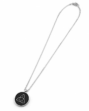 Dark Serie Symbol  Metallic Circle Necklace aos-necklace-circle-metallic-lifestyle-06