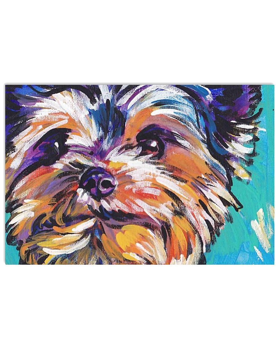 Yorkshire Terrier YORKIE ART PRINT 36x24 Poster