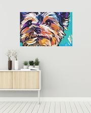 Yorkshire Terrier YORKIE ART PRINT 36x24 Poster poster-landscape-36x24-lifestyle-01