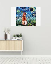 Shiba Inu Art Starry Night  36x24 Poster poster-landscape-36x24-lifestyle-01