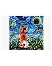 Shiba Inu Art Starry Night  Horizontal Poster tile