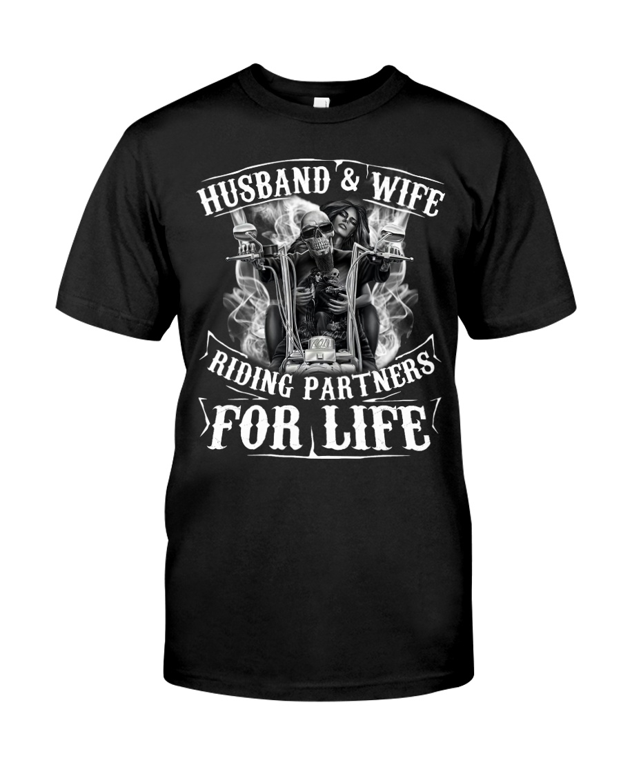 Husband And Wife Riding Partners For Life Classic T-Shirt