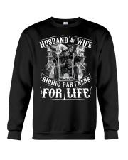 Husband And Wife Riding Partners For Life Crewneck Sweatshirt thumbnail