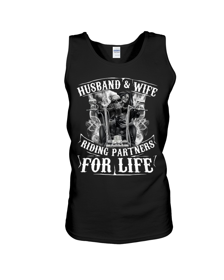 Husband And Wife Riding Partners For Life Unisex Tank