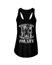 Husband And Wife Riding Partners For Life Ladies Flowy Tank thumbnail