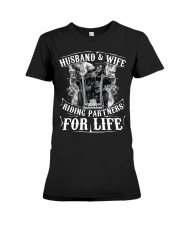 Husband And Wife Riding Partners For Life Premium Fit Ladies Tee thumbnail