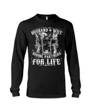 Husband And Wife Riding Partners For Life Long Sleeve Tee thumbnail
