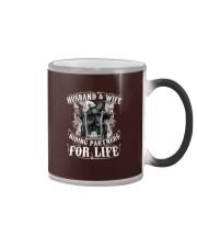 Husband And Wife Riding Partners For Life Color Changing Mug thumbnail