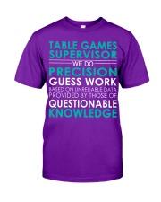 Table Games Supervisor Classic T-Shirt thumbnail