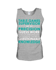 Table Games Supervisor Unisex Tank thumbnail