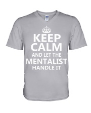Mentalist - Keep Calm Job Title V-Neck T-Shirt thumbnail