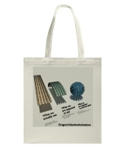 Flat Earth NYC Designs Tote Bag back