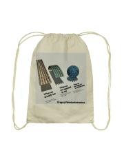 Flat Earth NYC Designs Drawstring Bag back