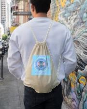 Flat Earth NYC Designs Drawstring Bag lifestyle-drawstringbag-front-1