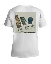 Flat Earth NYC Designs V-Neck T-Shirt back