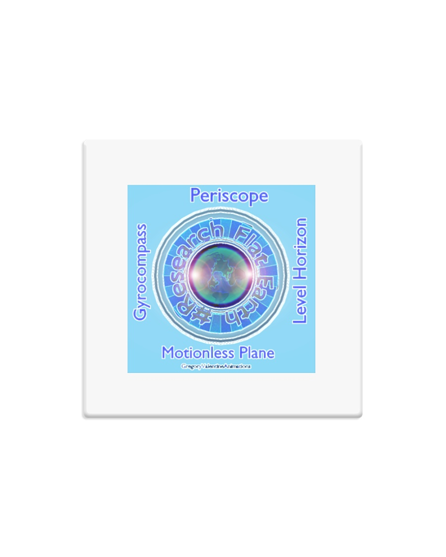 Flat Earth NYC Designs Square Magnet