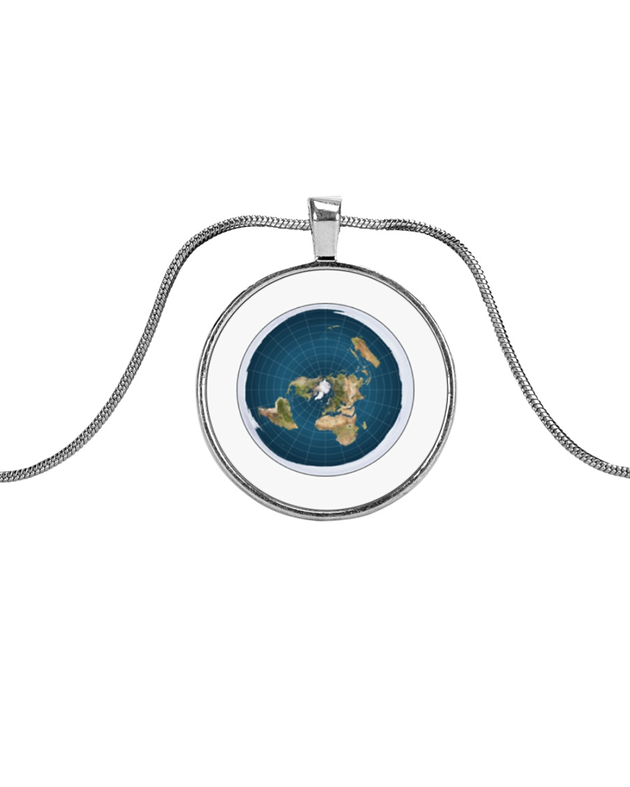 Flat Earth NYC Designs Metallic Circle Necklace