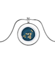 Flat Earth NYC Designs Metallic Circle Necklace thumbnail