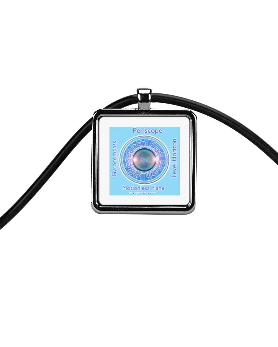 Flat Earth NYC Designs Cord Rectangle Necklace