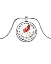 Cardinal 3D Necklace Metallic Circle Necklace front