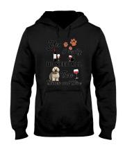 Bichon and wine Hooded Sweatshirt thumbnail