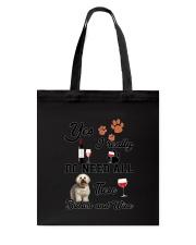 Bichon and wine Tote Bag thumbnail