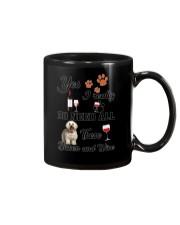 Bichon and wine Mug thumbnail