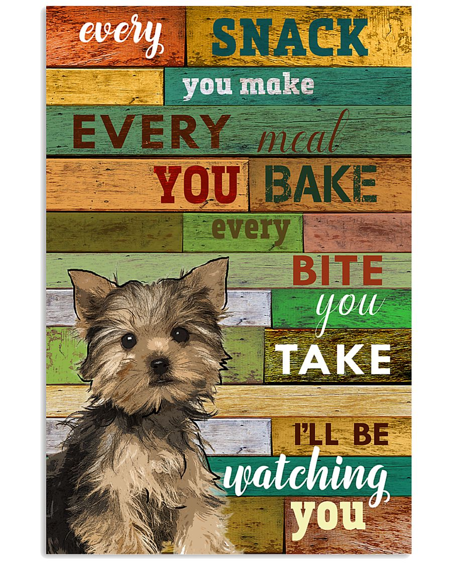Yorkshire Terrier Watching Poster 1601 11x17 Poster