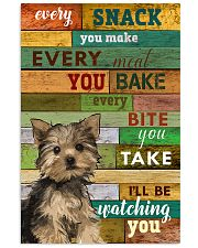 Yorkshire Terrier Watching Poster 1601 11x17 Poster front